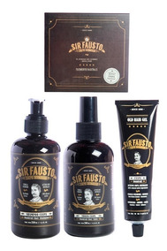 Sir Fausto Kit Anti Caspa Pelo Shampoo + Tonico + Gel