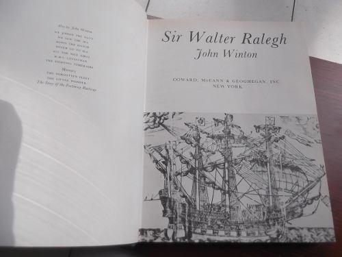 sir walter raleigh john winton en ingles tapa dura ilustrado