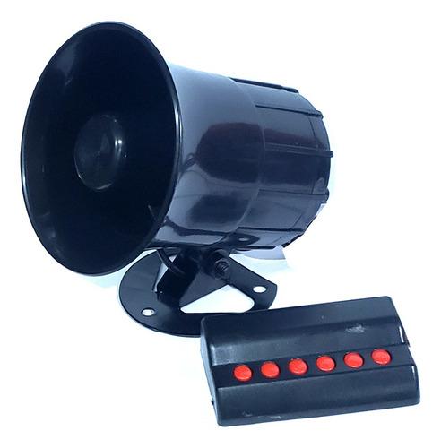 sirena 12 volts 20 watts 6 tonos sonido policial - ambulanci