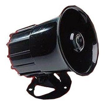 sirena 6 tonos 15w para alarma universal potente