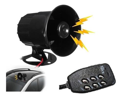 sirena 6 tonos escolta emergencia moto carro alta potencia