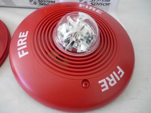 sirena con luz estroboscopica system sensor alarma incendio