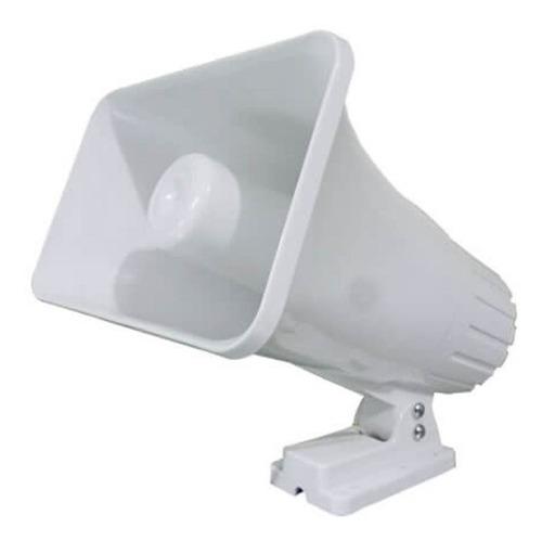 sirena conica de 2 tonos. 12v 30w. color blanco
