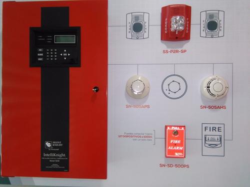 sirena contra incendio con luz estroboscopica