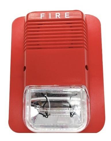 sirena de incendio de interior con strobo