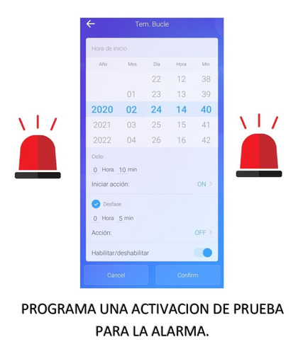 sirena doble vecinal wifi+control remoto con bateria respal.