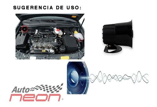 sirena electrónica compacta 1 tono 20w