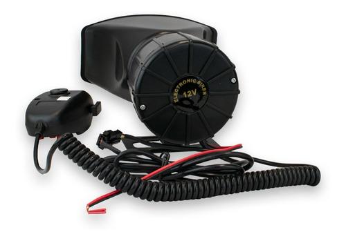 sirena electrónica compacta 3 tonos 100w con micrófono