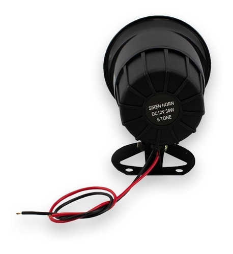 sirena electrónica compacta 6 tonos 20w
