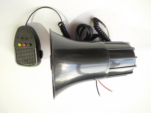 sirena escolta y perifoneo 3 tonos alta potencia 100w