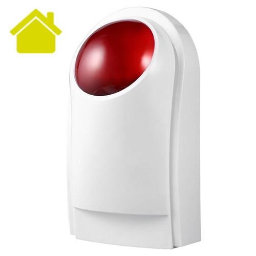 sirena inalambrica alarma gsm strobo led seguridad vecinal