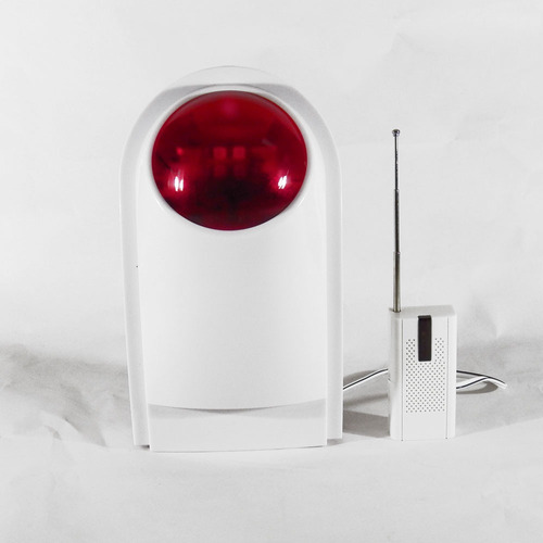 sirena inalambrica con bateria de respaldo led alarma sensor
