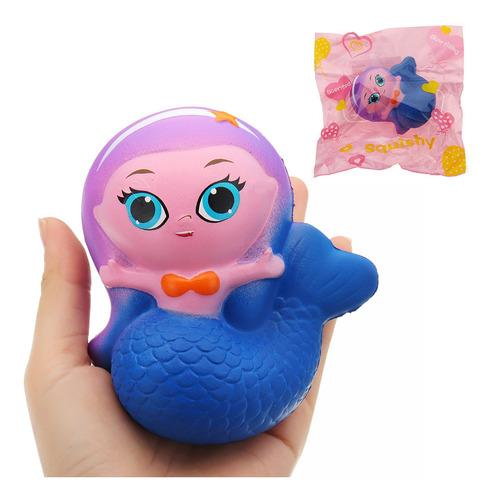 sirena squishyed juguete 10*9.5*6cm lento levantamiento con