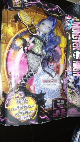 sirena von boo monster high freaky fusión  mattel