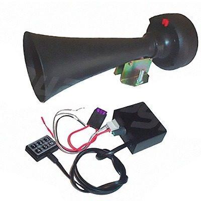 sirene 5 sons profissional tipo rontan c/ microfone e driver