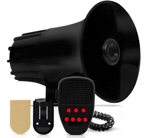 sirene buzina tipo 7 tons megafone sirene carro moto 100w