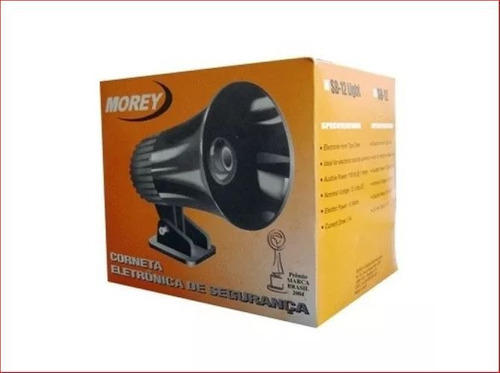 sirene corneta eletrônica morey sb-12 light 115dbi potente