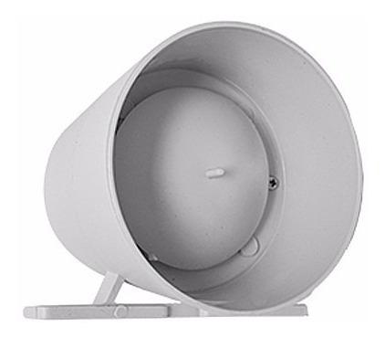 sirene de alarme piezzo branca 12v 120db - gcp