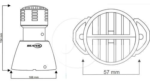 sirene industrial escolar relógio ponto 110v/220v 250 metros