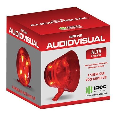 sirene para alarme residencial audiovisual ipec 120 db