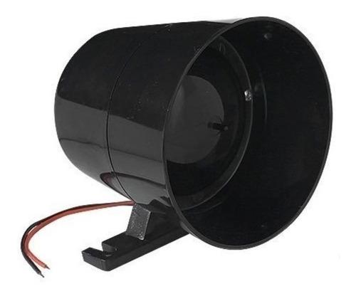 sirene piezzo de alarme preta 12v 120db alta gcp