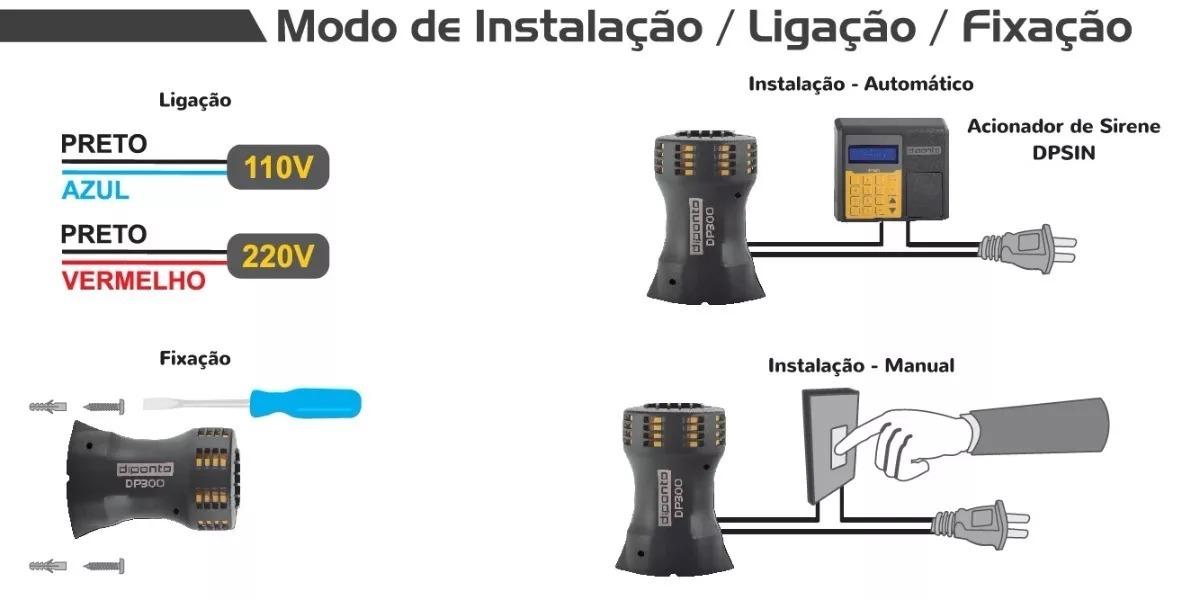 DP1000 - SIRENE ELETROMECÂNICA 110V - REGISTEC AUTOMAÇAO COMERCIAL