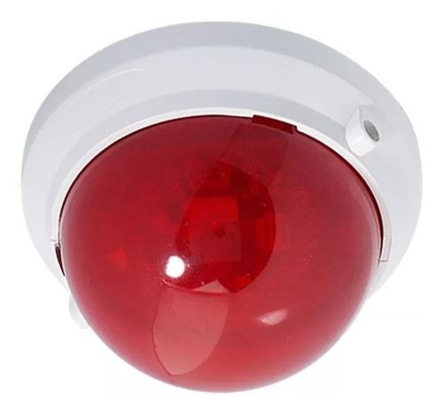 sirene visual led strobe genno vermelho