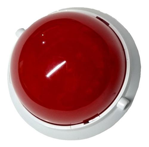 sirene visual  strobe genno led vermelho