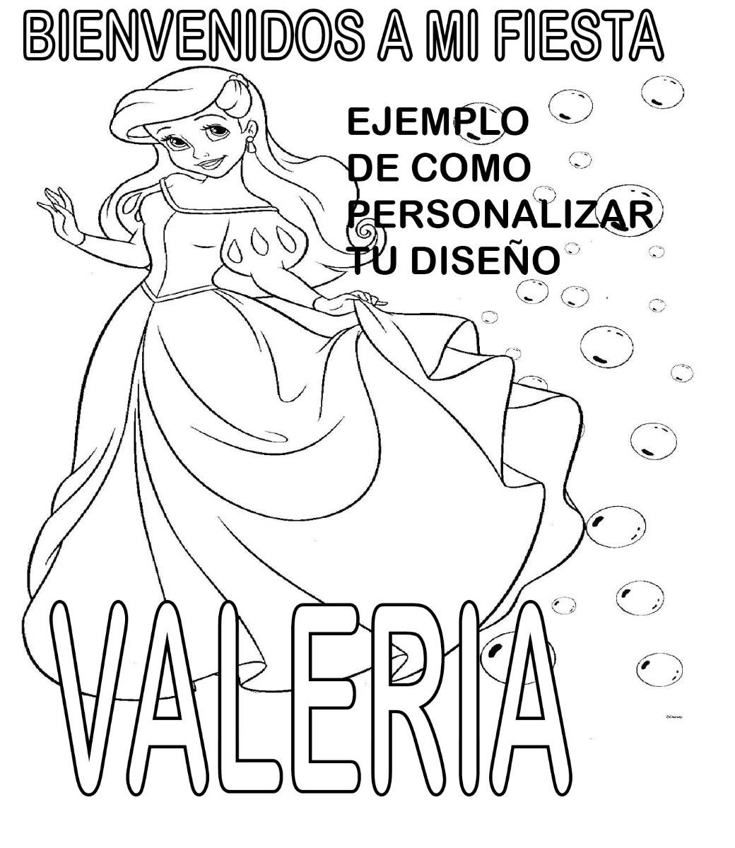 Sirenita Ariel Dibujos Colorear 50 Hojas Para Colorear - $ 60.00 en ...