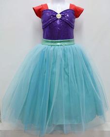 Sirenita Tutus Niña Disfraces Vestidos Ariel