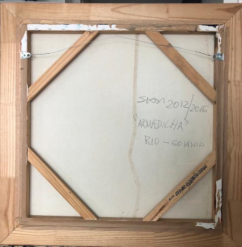 siron franco - tela em óleo 79cm x 79cm - obra: armadilha