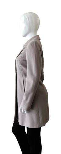 sisley abrigo talla 42 color plomo
