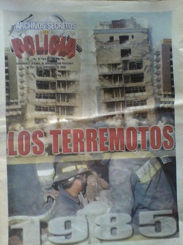sismos 1985 la prensa archivos secretos de la policia