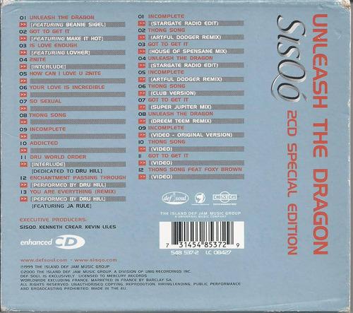 sisqo unleash the dragon edición especial de 2 discos import