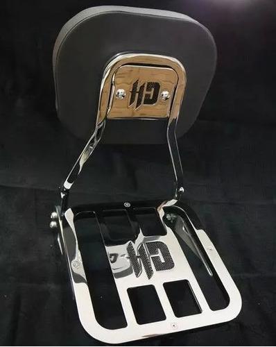 sissy bar tubular destacável hd breakout - jj custom