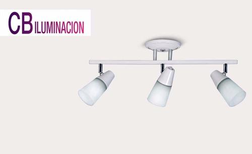 sistema 3 luces dirigibles lampara bajo consumo o led