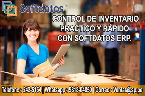 sistema administrativo incluye control de inventarios