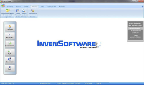 sistema administrativo invensoftware plus. facturacion