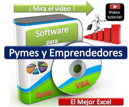 sistema administrativo pymes y emprendedores excel ver video