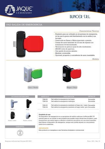 sistema antipanico pad jaque con acceso llave manija o pomo