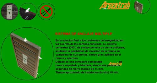 sistema antirrobo para persianas metalicas