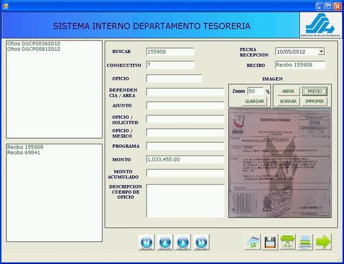 sistema - archivador de documentos digitales. vbf