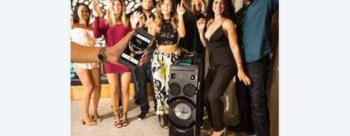 sistema audio sony mhc-v77d bt fm cd dvd karaoke control led