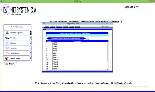 sistema automatizado para el registro de mantenimiento