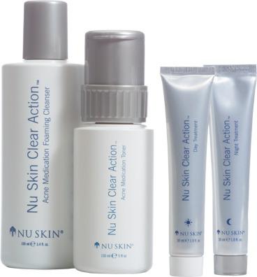 sistema clear action acne completo nu skin original nuskin