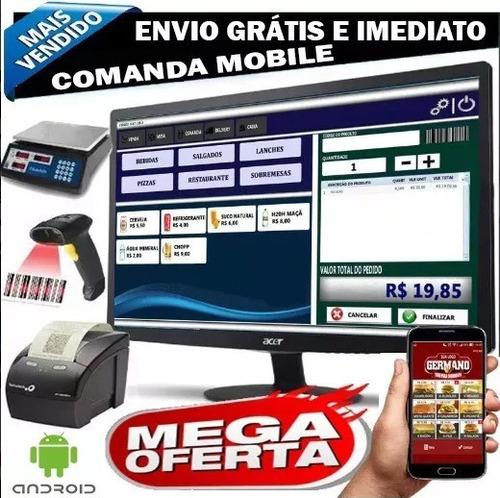 sistema comanda eletrônica, pedidos, tickets, fichas