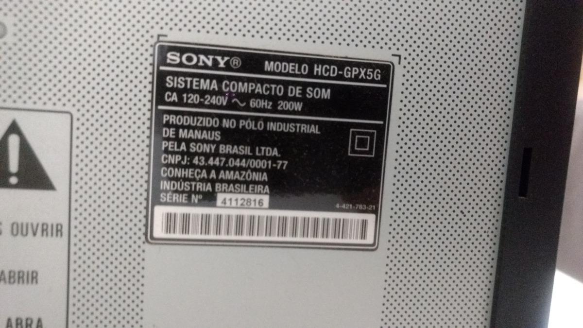 Sistema Compacto De Som Sony Hcd-gpx5g