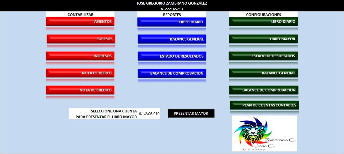 Sistema Contable En Excel - Plantilla - Bs. 150.000,00 en Mercado Libre