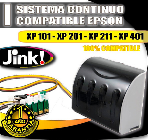 sistema continuo compatible epson xp201 -xp211 -xp401 -xp411