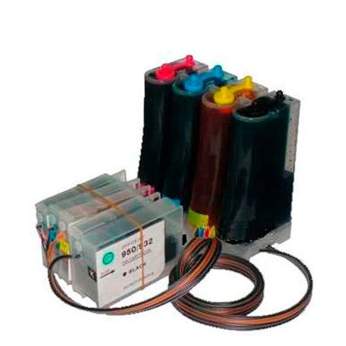 sistema continuo hp cartuchos 950 para hp 8100 8600 400cc